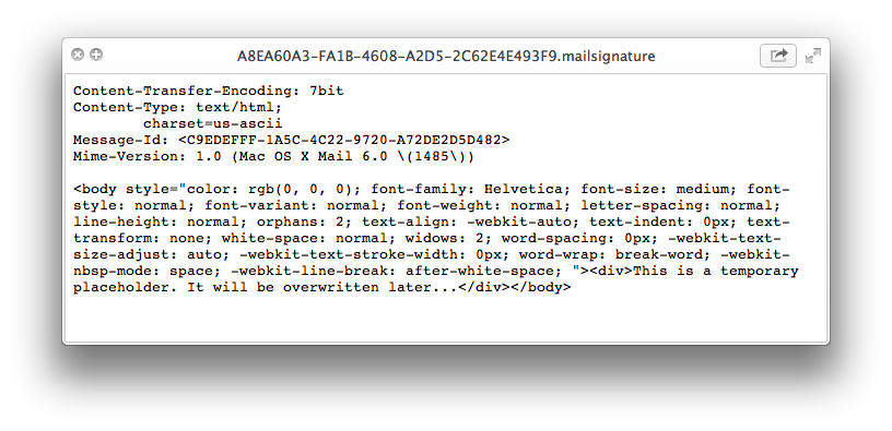 How to Make an HTML Signature in Apple Mail for Mavericks OS X 10.9
